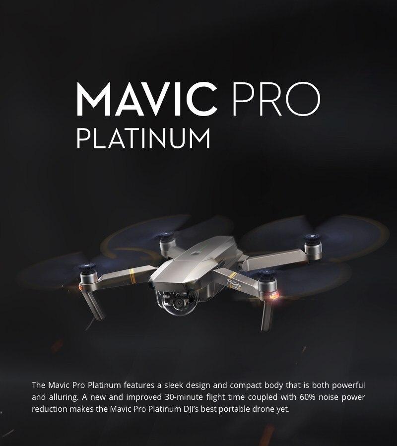 DJI Mavic Pro Platinum Version FPV w/ 3 Axis Gimbal 4K Camera Noise Drop Foldable Arm RC Camera Drone Quadcopter RTF VS Mavic