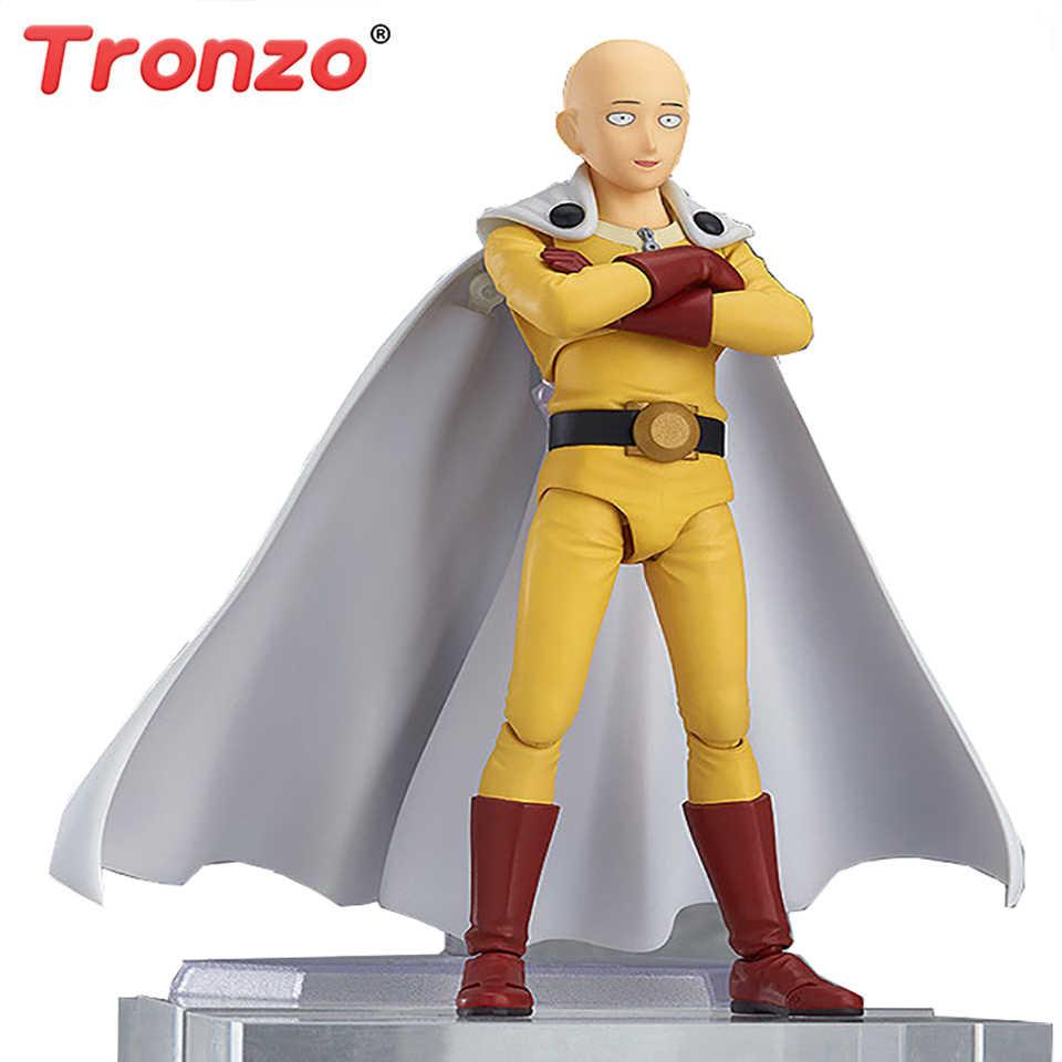Tronzo figura de ação figma 310 anime um soco homem saitama genos shf herói saitama pvc figura modelo brinquedos saitama estatueta presentes