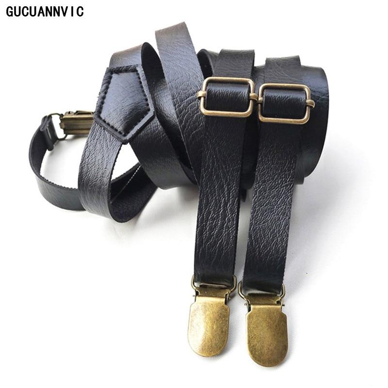 New Black Colors High Quality Casual Cortex Suspenders Adjustable Men's Suspenders Clip Fashion Braces Belt Strap