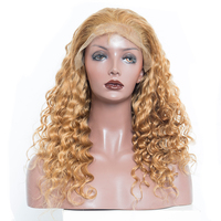 Colorful Loose Wave Lace Front Wigs With Baby Hair #27 250% Density Brazilian Virgin Human Hair Wigs Natural Hair Honey Queen