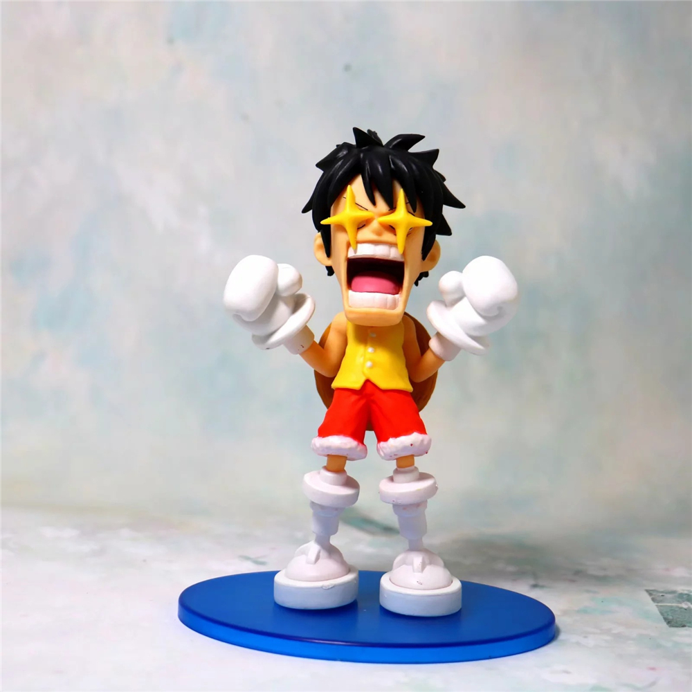 Us 9 34 15 Off Anime One Piece Monkey D Luffy Gold Star Eyes Ver Pvc Action Figures Collectible Model Kids Toys Doll Brinquedos 14cm In Action