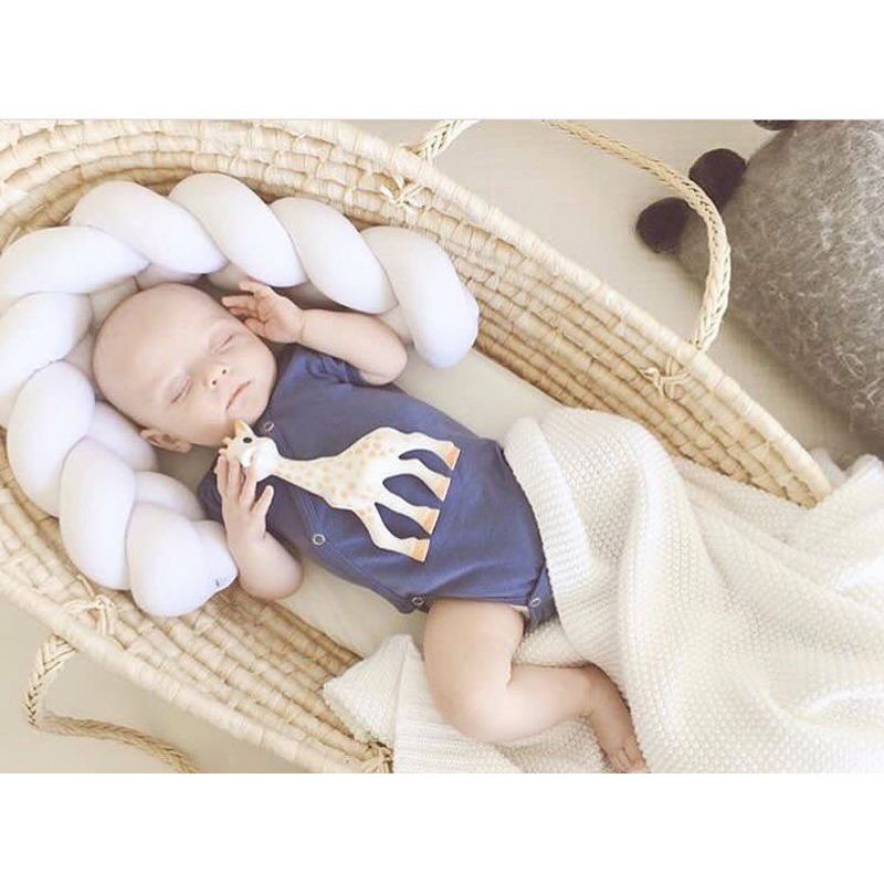 300cm Baby Soft Handmade Nodic Knot Newborn Bed Bumper Long Knotted Braid Pillow Baby Bed Bumper in the Crib Infant Room Decor 2m length nodic knot newborn bumper long knotted braid pillow baby bed bumper in the crib infant room decor