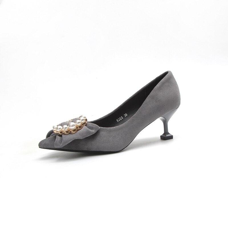 Sauvage Talons Hauts 2 3 Femelle Chaussures De Avec Version Automne zMVpSU
