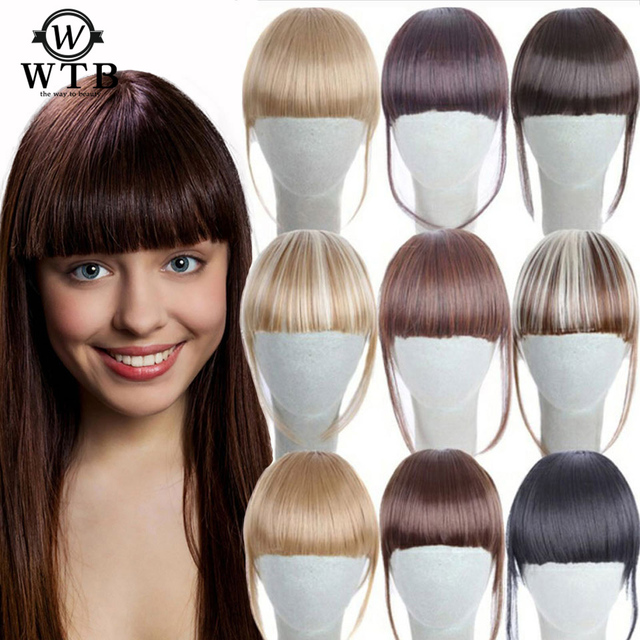 Hair Extension Synthetic False Hair Neat Front False Fringe Thin