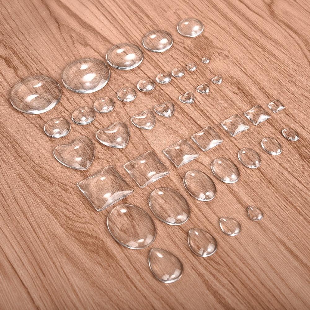 Glass point back rhinestone water teardrop cabochon clear DIY jewelry supplie