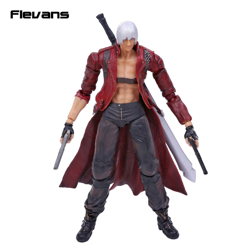 SQUARE ENIX Play Arts KAI Devil May Cry 3 Dante PVC Action Figure Collectible Model Toy 25cm devil may cry 3 action figure toys playarts kai anime toy movie dante play arts kai 25cm collection model