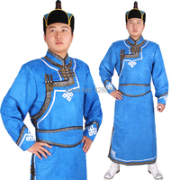 Other Apparel Male Robed Mongolia Deerskin Fleece Clothes Male Costume Chinese Minority Mongolia Deerskin Clothing