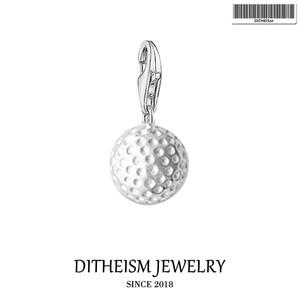 Подвеска в виде мяча для гольфа, 2019, модные ювелирные изделия из стерлингового серебра 925 пробы, спортивный подарок для женщин и мужчин, подх...