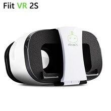 """¡ CALIENTE!!! 2017 nueva fiit vr 2 s versión de realidad virtual gafas 3d google cartón para 4.0 a 6.5 """"teléfono inteligente caja de vr vr shinecon"""