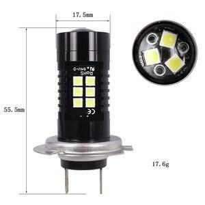 Image 5 - 2Pcs LED Fog Lights For Car 12V DC H7 3030 21 LED Lights White 6500K Car Fog Head Light Lamp Headlight Light Bulbs For Cars
