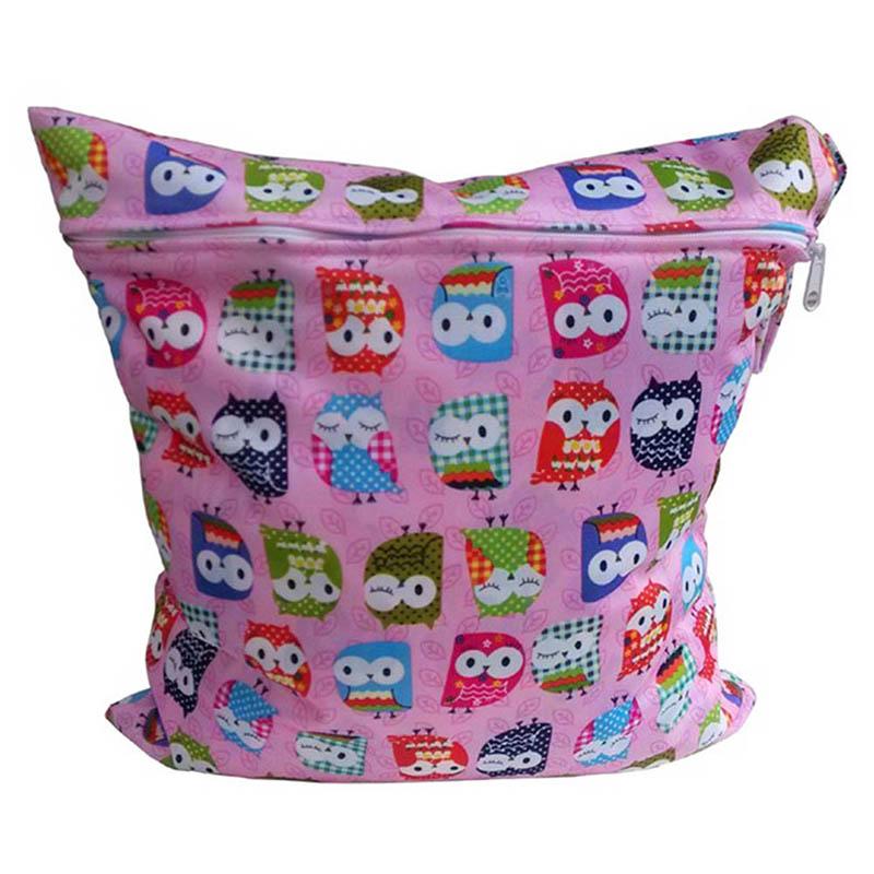 Useful Diaper Bag Reusable Baby Cloth Diaper Nappy Wet&Dry Bag Swimmer Zipper Tote