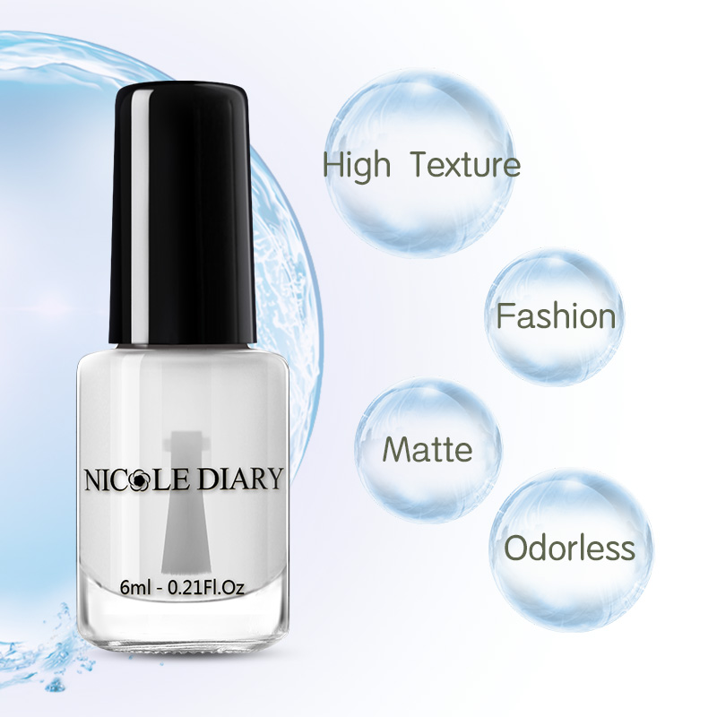 NICOLE DIARY матовое верхнее покрытие 6 мл Отшелушивающий лак для ногтей без запаха лак для ногтей лак на водной основе