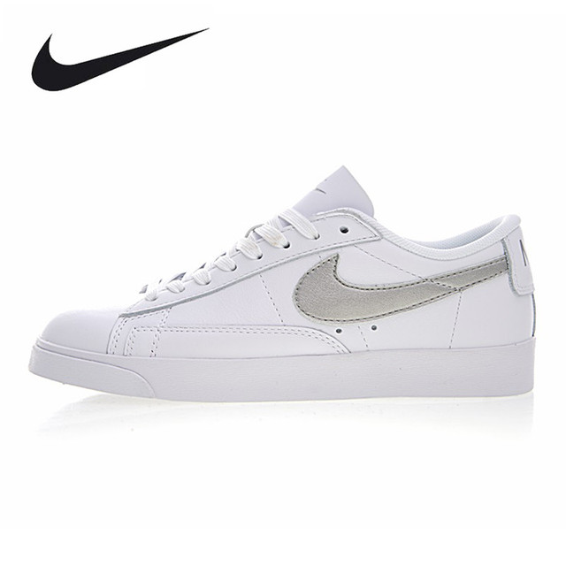 check out 1fc20 7ecae ... spain nike blazer low le womens skateboarding shoes white silver wear  resistant breathable 3778b 83e4e ...