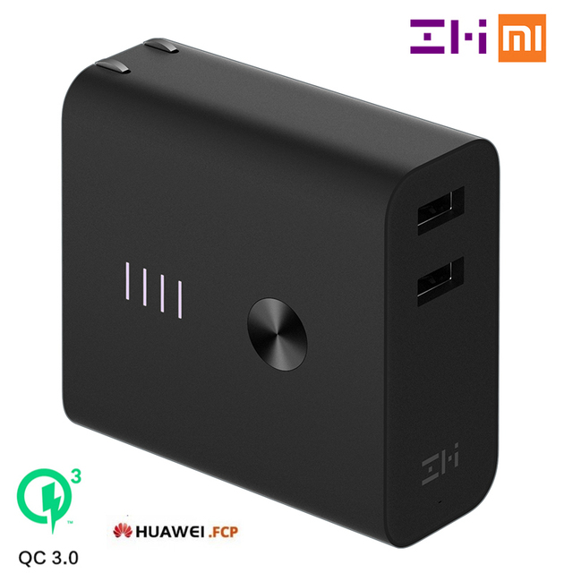 Xiaomi ZMI Power Bank Wall Charger 6500mAh Quick Charge 3.0 FCP Two-Way  Fast Charge 2-in-1 Portable Powerbank 7f98269a5d