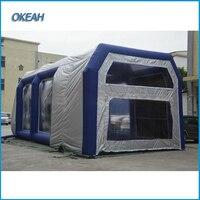 Экономичная и практичная портативная подвижная надувная кабина для покраски, передвижная надувная палатка для покраски
