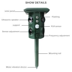 Image 5 - Zonne energie Animal Repeller Waterdichte Pir Sensor Outdoor Tuin Anti Kat Hond Usb Ultrasonics Solar Alarm Drive Repeller