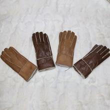 Женские перчатки из натуральной кожи, теплые зимние варежки, горячая Распродажа, толстые,, Зимние перчатки для взрослых из натуральной кожи для женщин