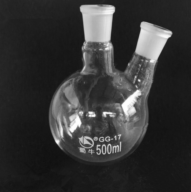 High-quality 24*24 JOINT 2-neck Round Bottom Flask Lab Glassware 24