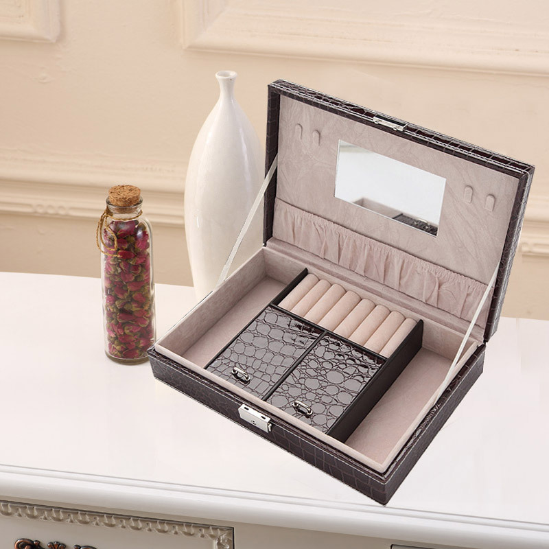 20pcslot The high grade leather Jewelry boxes Jewelry Storage Cases