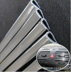 High quality 1M automotive air conditioning outlet door trim U bright bright body modification stickers + FREE SHIPPING