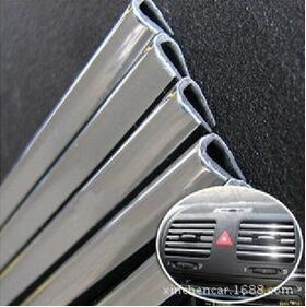 High quality 1M <font><b>automotive</b></font> <font><b>air</b></font> <font><b>conditioning</b></font> outlet door trim U bright bright body modification stickers + FREE SHIPPING
