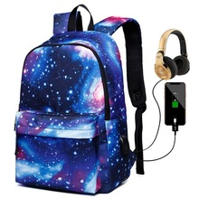 Women School Backpacks USB Charging Canvas Backpack School Bags for Teenagers Boy Girls Large Capacity Travel Backpack Men Bags недорого
