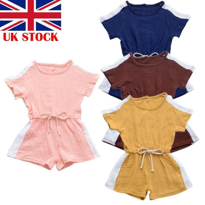 UK/детская одежда для новорожденных девочек; повседневный комбинезон с короткими рукавами; боди; комплект одежды