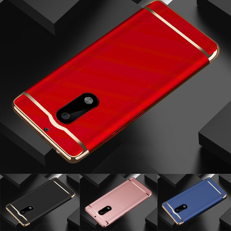 Luxury Gold Red Removable 3 in 1 Hard Plastic Case For Nokia 6 Case PC Plating Matte Cover For Nokia6 5.5 inch Case