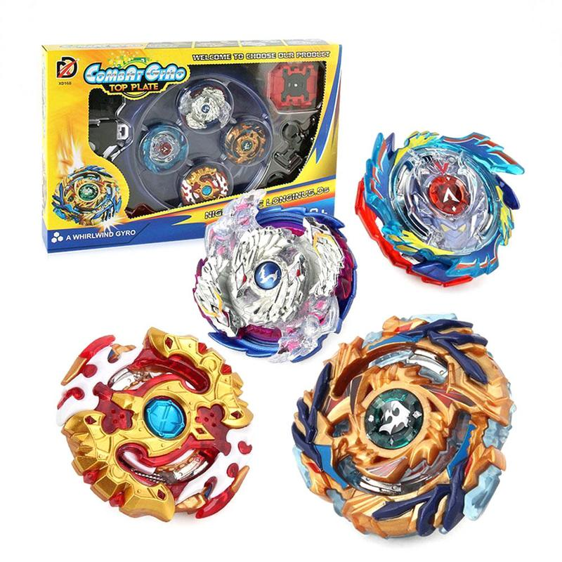 Metal Beyblade estalló estadio de Beyblade Metal Fusion juguetes lanzador Spinning Top Bey Blade Starter Kit lucha Gyro