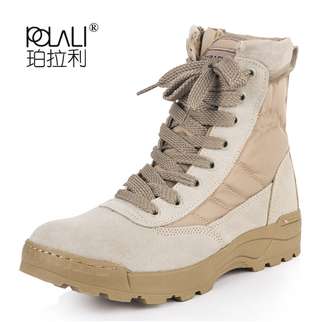 e524ce9613a0 Men Tactical Military Army Boots Breathable Leather Mesh High Top Casual  Desert Work Shoes Mens SWAT Ankle Combat Boothj89