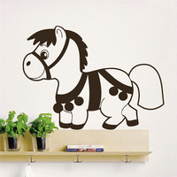 Los Niños de dibujos animados Amor Decoración Tatuajes De Pared Animal Caballo Pony Tatuajes de pared Art Kids Nursery Room Decor Pegatinas