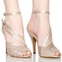 במלאי הסיטונאי וקמעונאיות סלסה נעל עקב גבוה, שחור, עירום, אפור, נשים הכחולה סאטן הלטיני/סלוניים נעלי ריקוד XC-6300