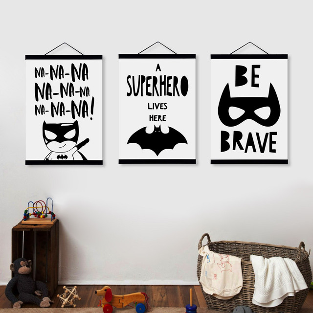 Black and White Batman Posters