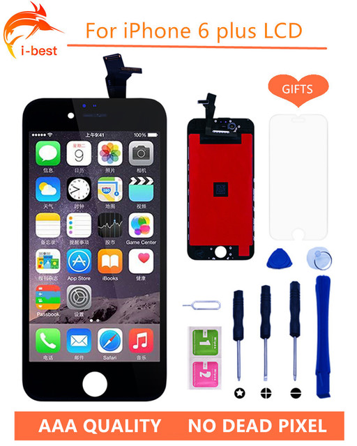 1psc 100%No Dead Pixel LCD Display  LCD Touch Screen Digitizer Assembly Replacement LCDs for Iphone6 plus 5.5
