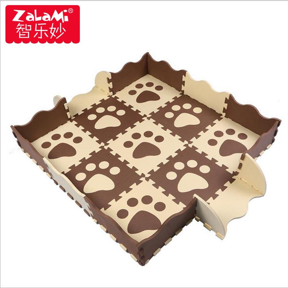 Rajzfilm EVA játék matrac kerítéssel gyerekek puzzle játék - Csecsemőjátékok