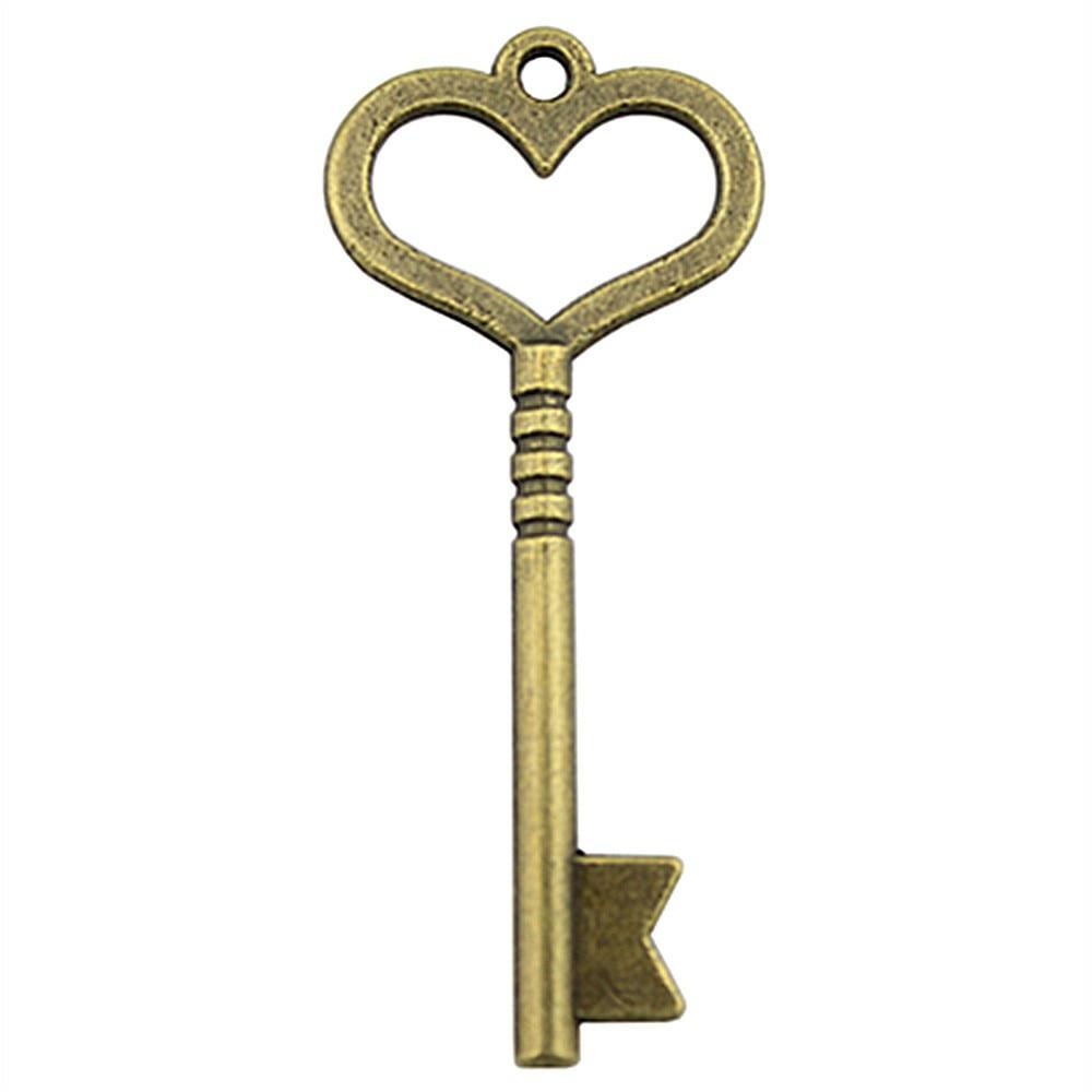 10 Stücke Charme Schlüssel Vintage Schlüssel Charms Anhänger Für Schmuck Machen Antike Bronze Farbe Schlüssel Charms 46mm