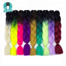 Luxury 24 60cm Ombre Synthetic Crochet Hair Extensions Jumbo Braids Hairstyles Pink Red Blue Braiding