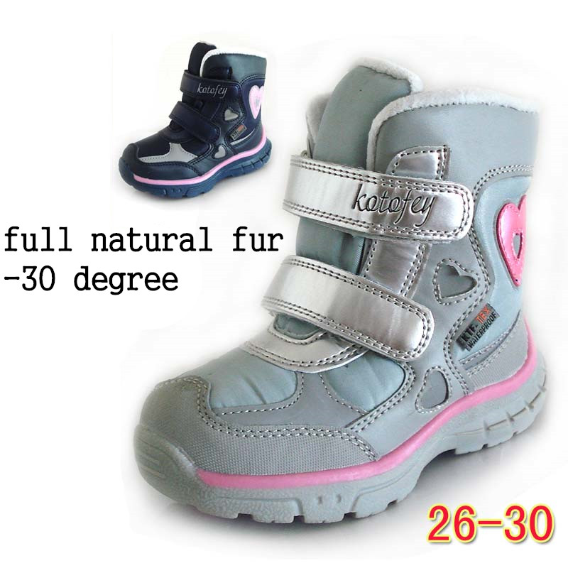 Russian new waterproof winter snow boots warm boots children's shoes boots girls natural fur outdoor boot russian phrase book