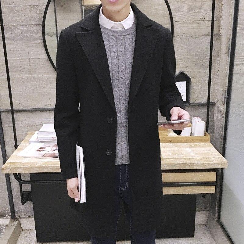 MRMT 2020 Brand New Men's Woolen Coat Long Windbreaker Man Jacket Overcoat for Male Casual Outer Wear Men Clothing