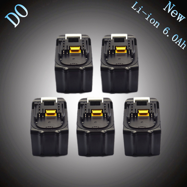 5PCS New Spare Rechargeable Lithium Ion 6000mAh Replacement Power Tool Battery for Makita 18V BL1830 LXT400 194205-3 194230-4