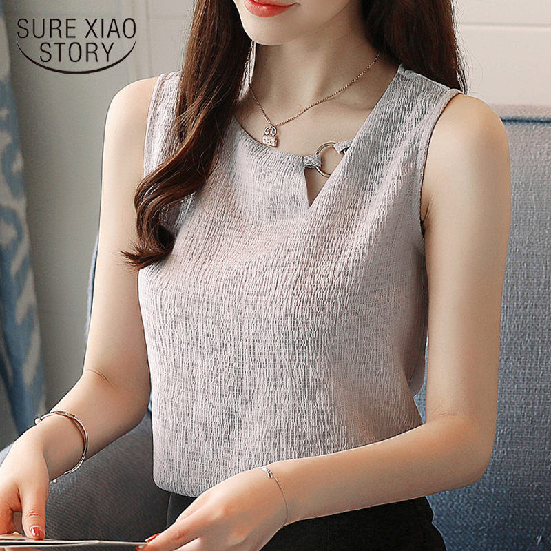 new 2019 sleeves chiffon women   blouse     shirt   solid women tops blusas o-neck sweet women's clothing OL ladies   blouses   0266 40
