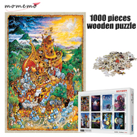 MOMEMO Noah's Ark Puzzle 1000 Pieces Jigsaw Wooden Puzzle Adult 1000 Pieces Assembling Puzzles Toys Children Educational Gifts
