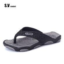 SV Brand 2017 Summer Men Designer Flip Flops Men's Casual Sandals Fashion Slippers Breathable Beach Shoes Hot Sales
