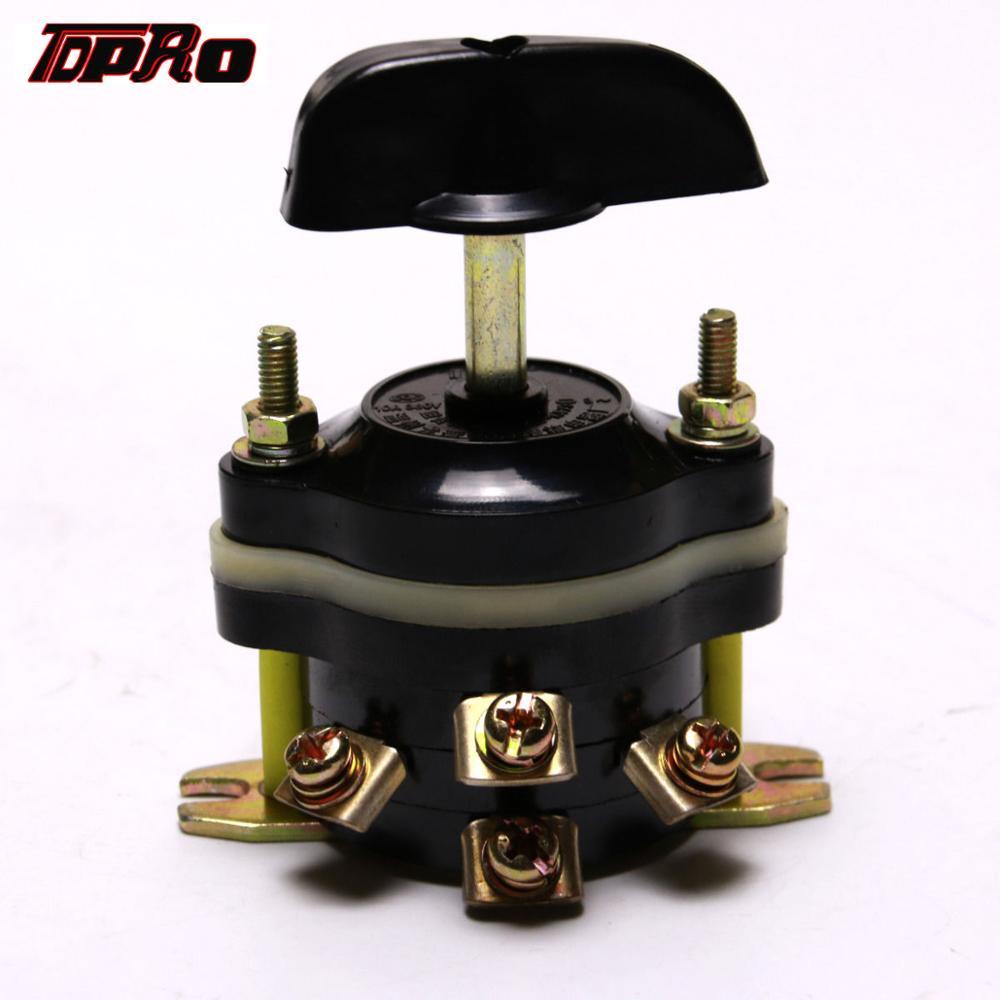 Tdpro 12 v/36 v/48 v escova para a frente interruptor reverso botão de ligar/desligar para 500 w 800 w 1000 w motor elétrico ir kart scooter atv quad 4 rodas