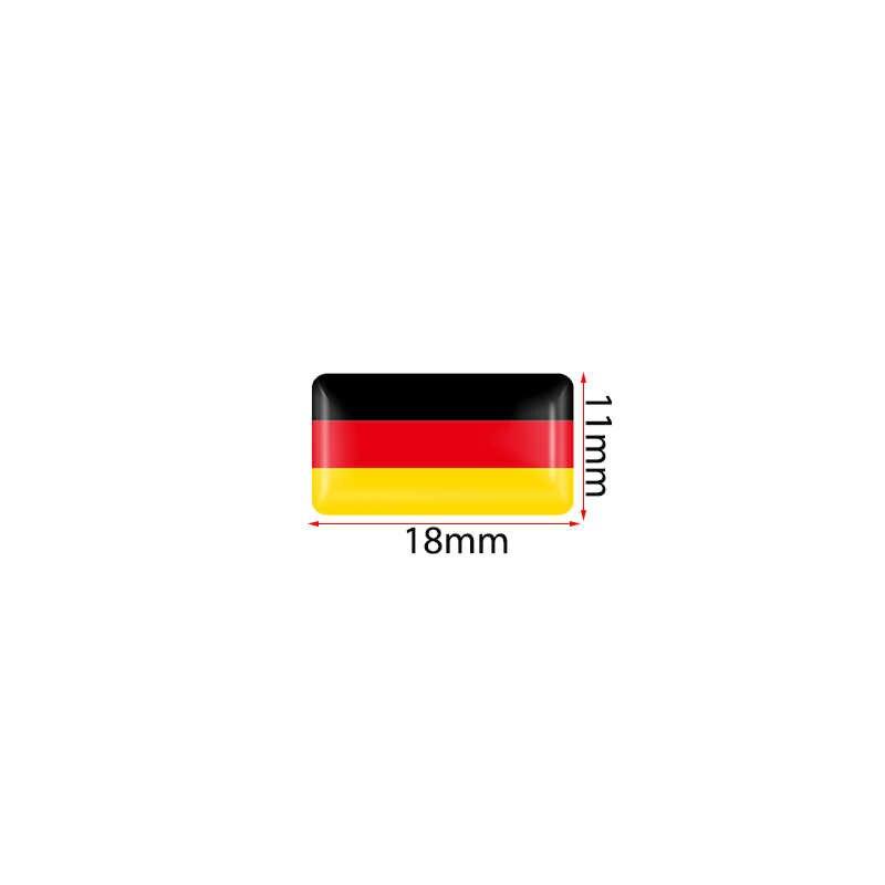 4x Volante 3D Escudo Adesivo Da Bandeira Nacional Bandeiras Emblema Decalque Decoração para BMW Audi toyota ford nissan Auto Acessórios