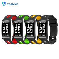 Teamyo New HM68 Smart Band Blood Pressure Heart Rate Monitor FitnessTracker Bracelet Smart Watch Waterproof IP68