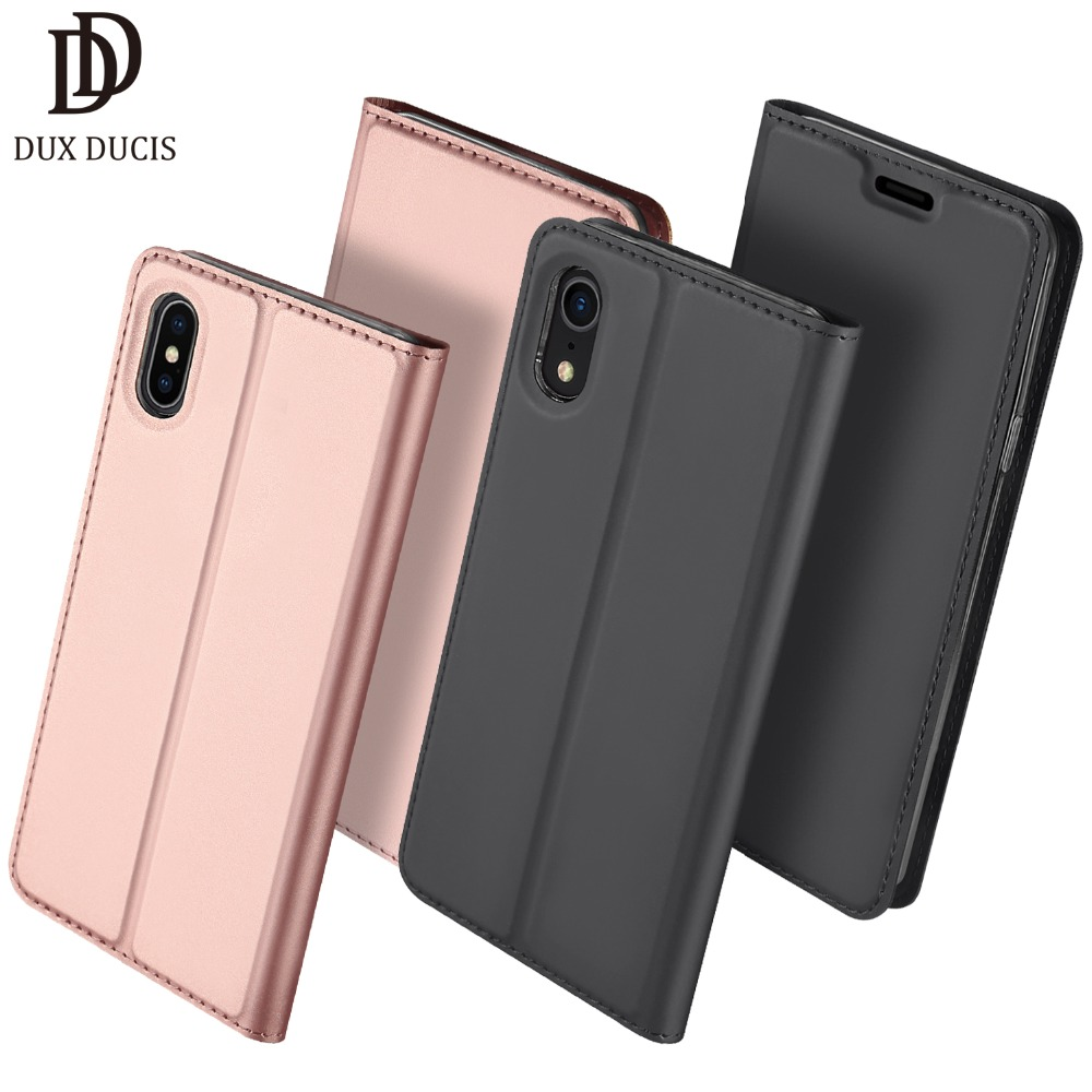 Flip Case for iPhone XS Max XR X 8 7 6 6s Plus PU Leather TPU Soft Bumper Cover Card Slot Holder Wallet Stand Mobile Phone Bag