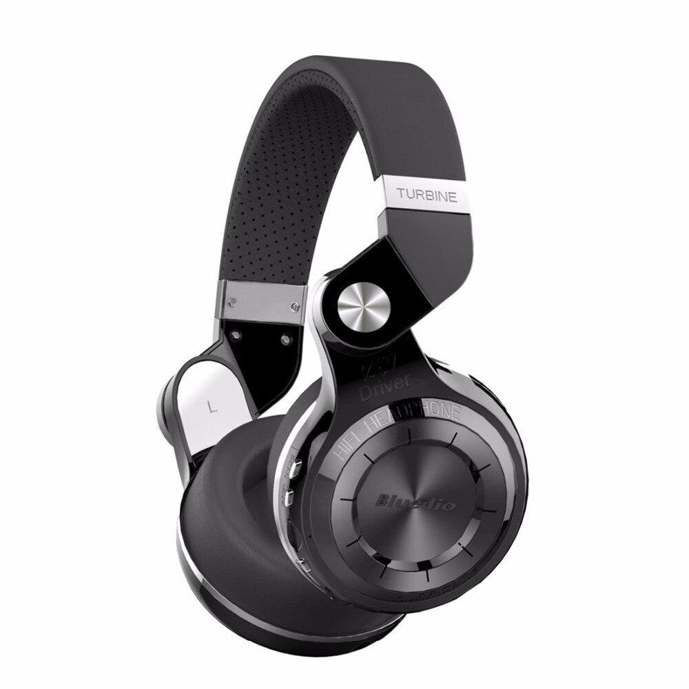 Bluedio T2 + Bluetooth inalámbrico 4.1 auriculares estéreo tarjeta SD y Radio FM auriculares con micrófono de alta bajo suena