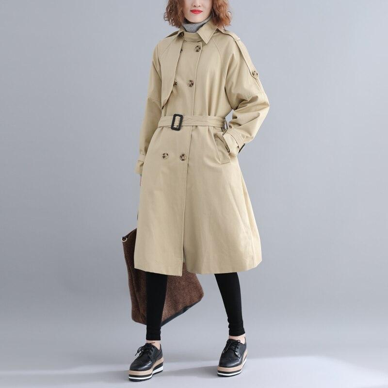 Top qualityFashion Autumn Winter New 2019 oversized   Trench   coats For Women oversized elegant Women Cloths sobretudo feminino