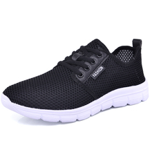TOSJC Mens shoes male flat shoes breathable light weight summer shoes plus size 39-46 male footwear